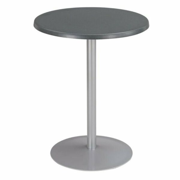 Safco Entourage 24quot; Round Patio Bistro Table Top in Anthracite $68.99