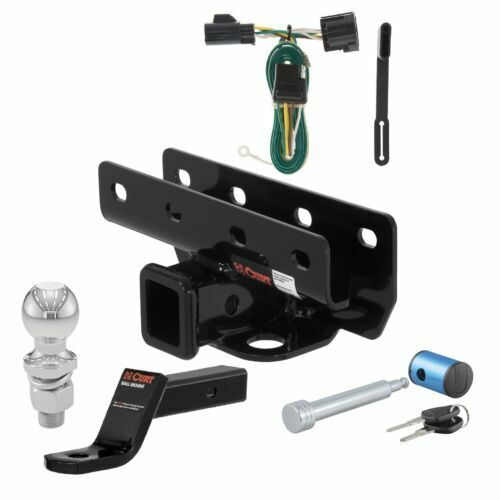 Curt Class 3 Hitch Tow Package w 2quot; Trailer Ball for Jeep Wrangler Wrangler JK $186.99