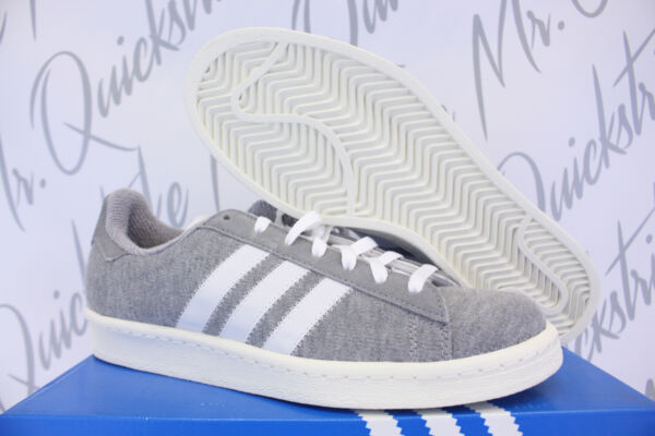ADIDAS CAMPUS 80'S BW SZ 12 BEDWIN AND THE HEART BREAKERS GREY WHITE S75675