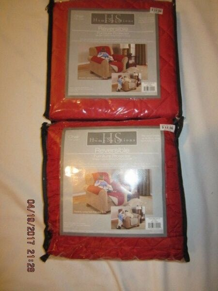 Lot of Two Home Solutions Brand Reversible Furniture Protectors Prevents Soiling $8.95