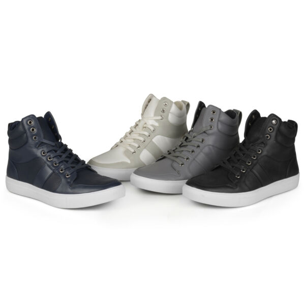 Territory Mens Fashion High Top Lace-up Sneakers