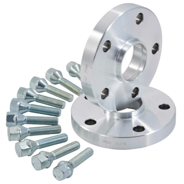 Hubcentric Alloy Wheel Spacers 20mm Skoda Superb TDI V6 All 5x100  5x112 57.1mm