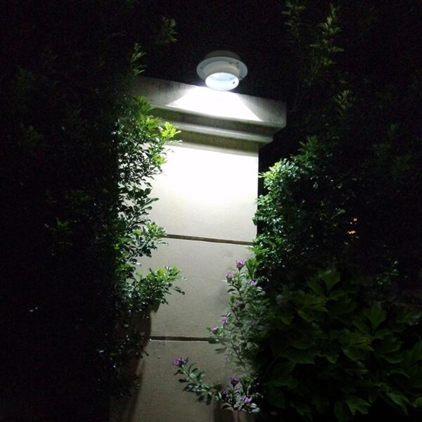 2 Pcs: Solar Powered Automatic LED Mounted Gutter Night Light Roof Outdoor Yard $12.90