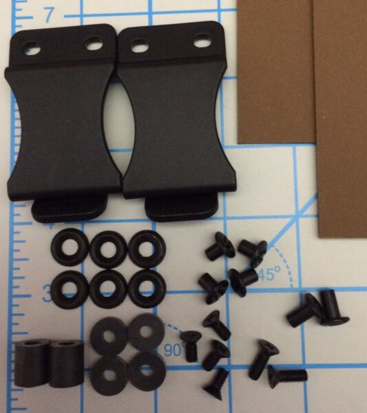 (2) Do It Yourself DIY IWB Holster Kits 1.5 Belt Clips .080 Coyote Brown Kydex