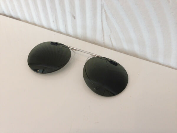 CUSTOM POLARIZED FLIP-UP CLIP-ON 4 OLIVER PEOPLES 47MM RILEY-R (SILVER)