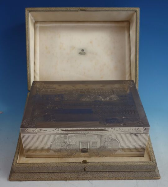 Asprey Sterling Silver Ceremonial Box Finely Engraved (#1569) Exceptional!