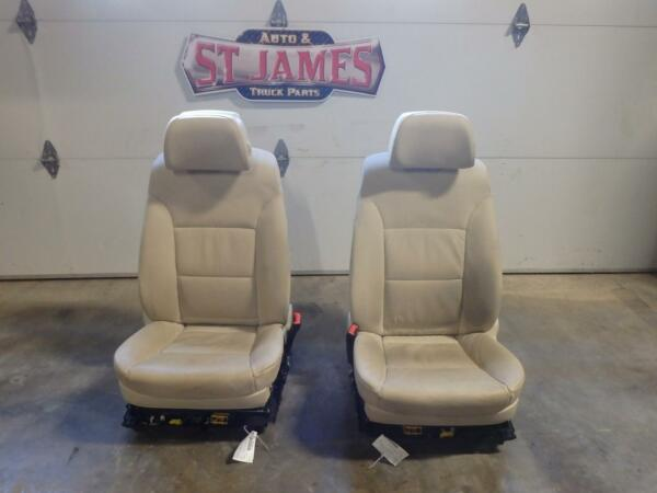 2008-2010 BMW 528i FRONT BUCKET SEATS LEATHER POWER HEATED MEMORY