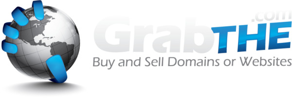 PREMIUM rare Two Word Short domain name GrabThe.com and website with traffic