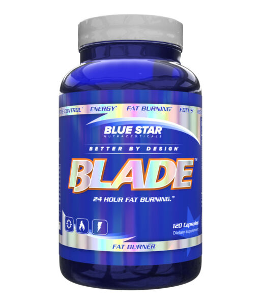 Blue Star Nutraceuticals Blade Fat Burner Mens Weight Loss Diet Supplement 120ct