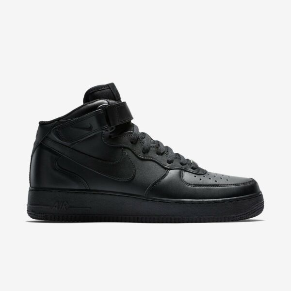 New Men's Nike Air Force 1 Mid Authentic Shoes (315123-001)  Black/Black-Black