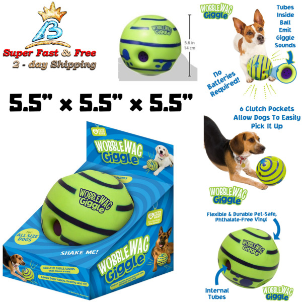 Wiggle Giggle Ball Dog Toy Wobble Wag Giggle Ball Medium Dogs Of All Ages Toy