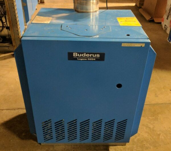 BUDERUS HOT WATER NATURAL GAS CONVECTIONAL BOILER LOGANO G234X64 219k BTU