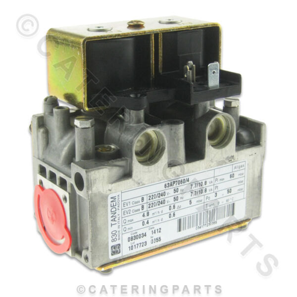 830 SIT 0.830.034 TANDEM GAS VALVE DUAL DOUBLE TWIN COIL CONTROL MAINS 220-240v