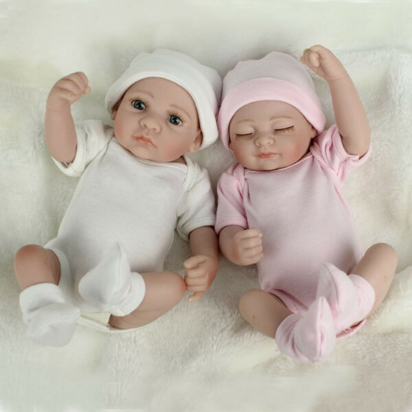 Twins Baby Dolls Lifelike Newborn Babies Full body Vinyl Silicone Boy
