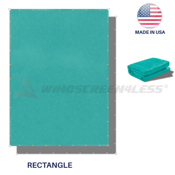 220GSM Sun Shade Sail Turquoise Straight Edge Finish Canopy Awning Patio11-16'FT
