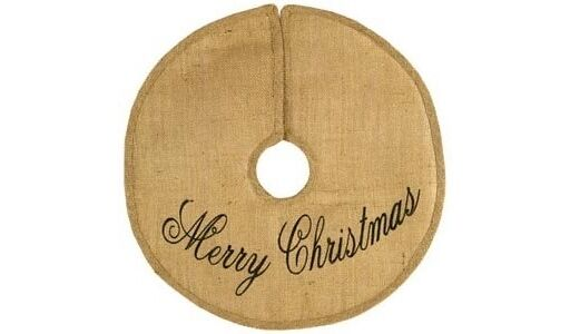 MERRY CHRISTMAS Burlap Tree Skirt Choose from 3 Sizes by Country House