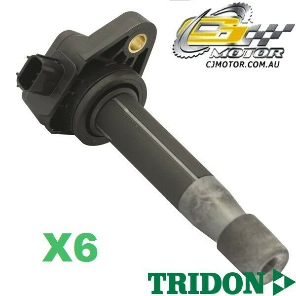 TRIDON IGNITION COIL x6 FOR Honda  Accord (V6) CP (50)208-610 V6 3.5L J35Z