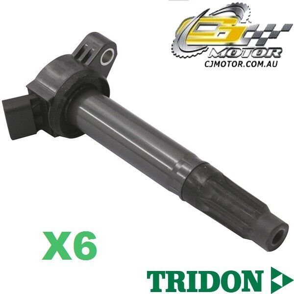 TRIDON IGNITION COIL x6 FOR Toyota Aurion GSV40R (TRD)807-610V63.5L 2GR-FE