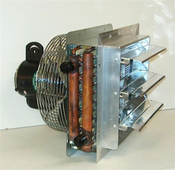 Hanging Hydronic Unit Heater 95K BTU For Outdoor Wood Furnace Boilers