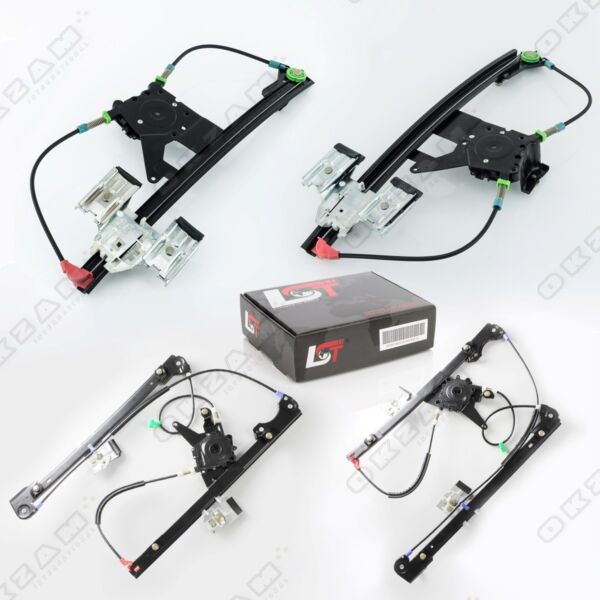 4x Electric Window Regulator Complete Front Rear Left Right for VW Golf 3 III 1H