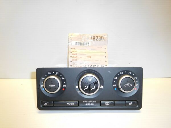 OEM SAAB 9 5 HEATER A C CLIMATE CONTROL 2006 WITHOUT VENTILATED SEATS $120.16