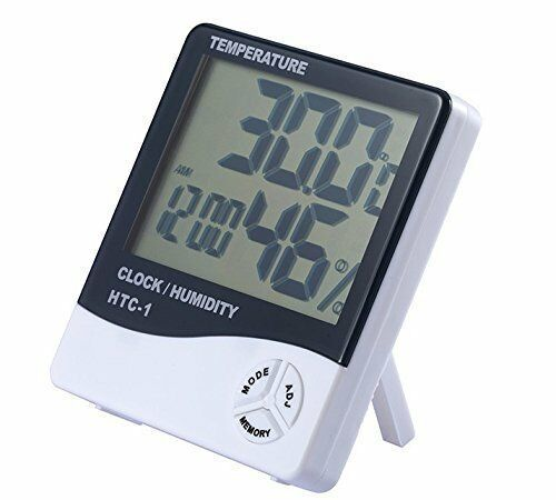 Indoor Large LCD Display Thermometer Humidity Hygrometer Temperature Alarm Clock $8.48