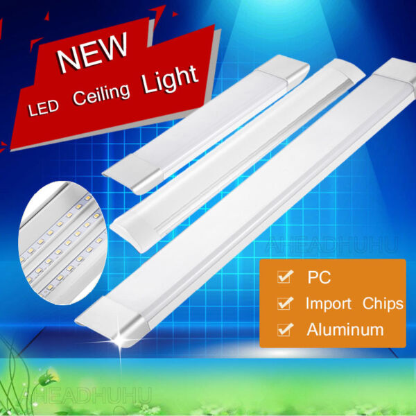 1FT 2FT 3FT 4FT LED Ceiling Living Room Panel Light Bulb Kitchen Rectangle Lamp