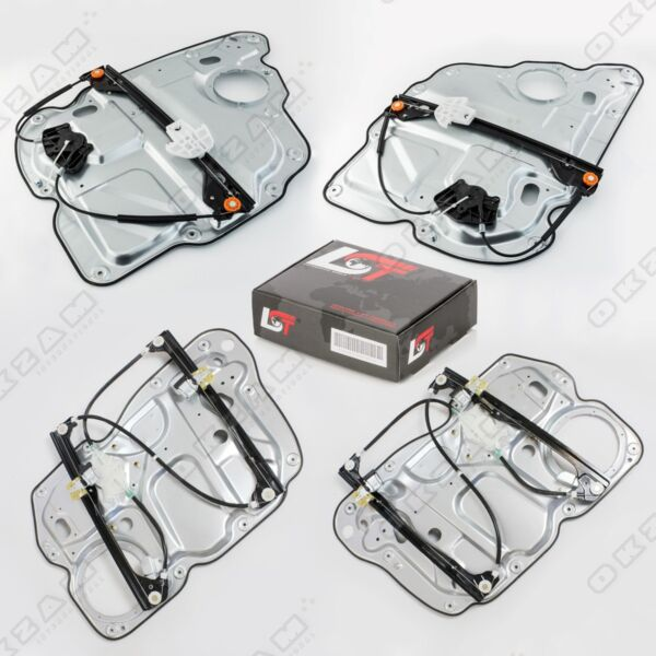 4x Window Regulator Complete Metal Plate Front Rear Left Right for VW Touran 1T