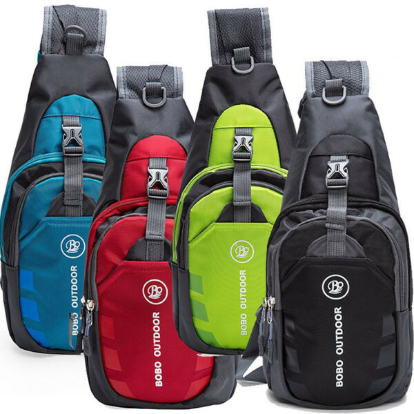 Men Women Nylon Sling Bag Backpack Crossbody Shoulder Chest Cycle Daily Travel $9.99