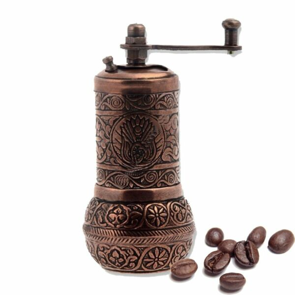 Turkish Handmade Copper Coffee Salt Pepper Spice Grinder Mill 4.2'' IN