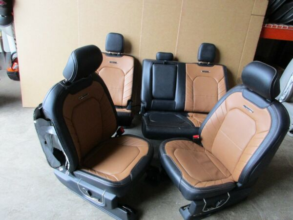 2016 FORD F150 LIMITED FRONT AND REAR MATCHING LEATHER BUCKET SEATS WHEAT