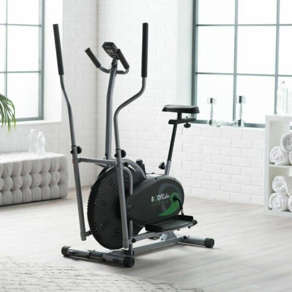 NEW Dual Trainer Cardio Bike Exercise Fitness Indoor Stationary Bicycle Workout $255.90