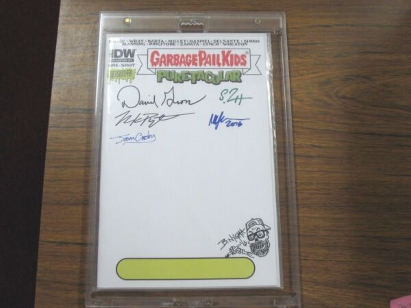 Signed IDW Garbage Pail Kids Puketacular #1 Blank Cover Variant Auto Gross Nygma
