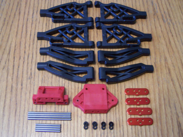 Team Redcat TR-MT10E 110 Truck Front Rear Upper & Lower Suspension Arms & Pins