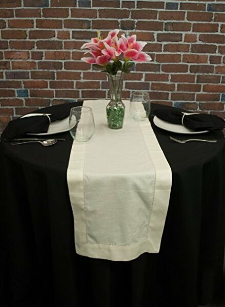 New Hemstitch Table Runners Ivory 2 Sizes Available