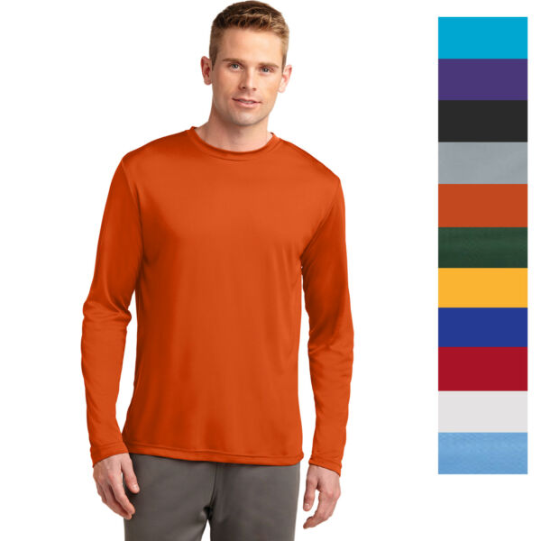 Sport Tek Men#x27;s Long Sleeve Performance Moisture Wicking T Shirt M ST350LS