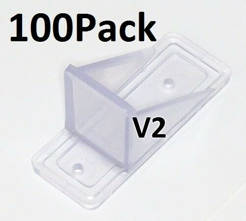 100 Pack MINI Roof Guard Snow Prevent Sliding Ice Snow Stop Plastic ACRYLIC $84.99