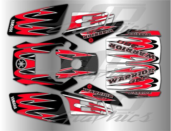 YAMAHA WARRIOR full graphics kit DECALS STICKERS..THICK AND HIGH GLOSS $85.00