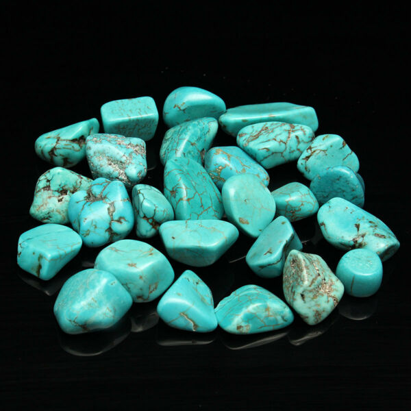 US 100g Mini Blue Turquoise Rock Beauty Polished Rough Stone Nugget Healing lss
