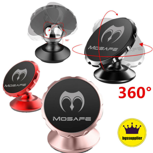360 Degree Mosafe® Magnetic Car Mount Dashboard Stand Holder For Cell iPhone $9.98