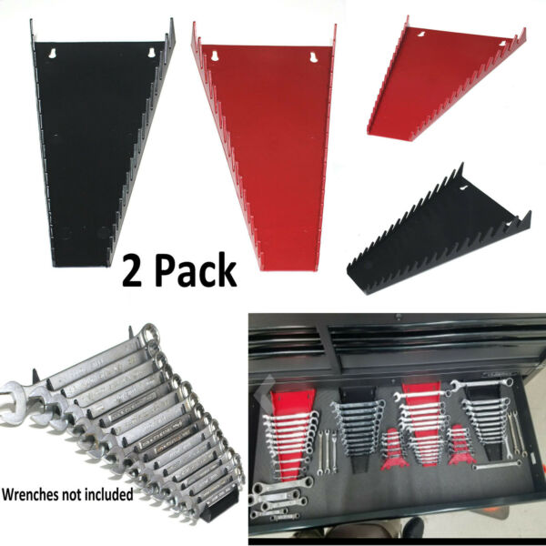 Storage Rack Tray Rail Sorter Box 2 Pack Organizer Sorter Tool Holder 16 Wrench