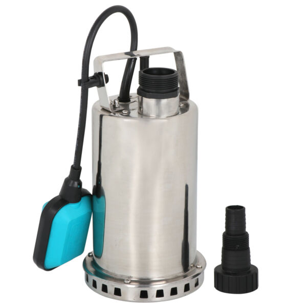 1HP Stainless Steel Submersible Pump Sump Dirty Clean Water Pump 3000GPH 750W