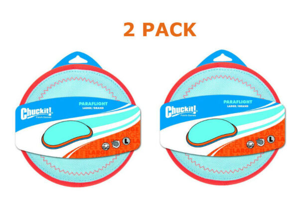 (2 PACK) Chuckit! Large Paraflight Dog Toy NEW