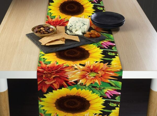 Sunflower Garden Signature Table Runners 12quot; x 72quot; or 14quot; x 108quot;