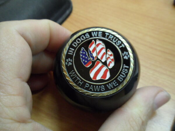 In Dogs We Trust With Paws We Bust Police Dog Jeep Gear Shift YJ TJ JK other $29.95