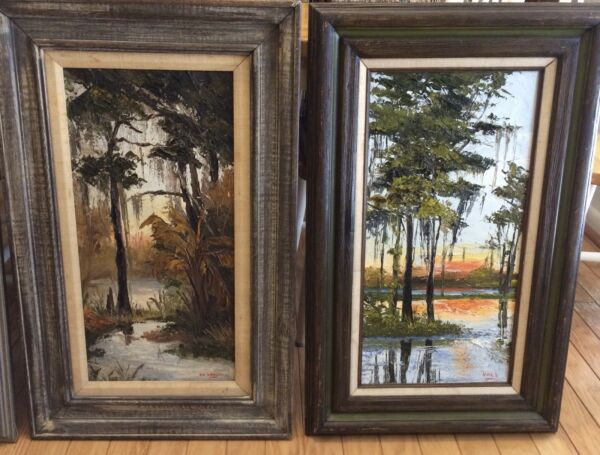 "A pair of World Renown Palette Knife Artist ""Nina D Buxton"" paintings"