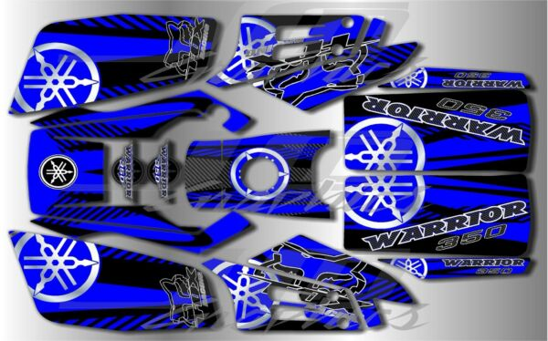 YAMAHA WARRIOR full graphics kit DECALS STICKERS ..THICK AND HIGH GLOSS $85.00