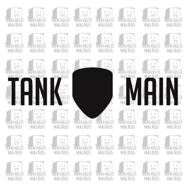 Tank Main Vinyl Decal Sticker car Overwatch laptop pc computer tower esports e