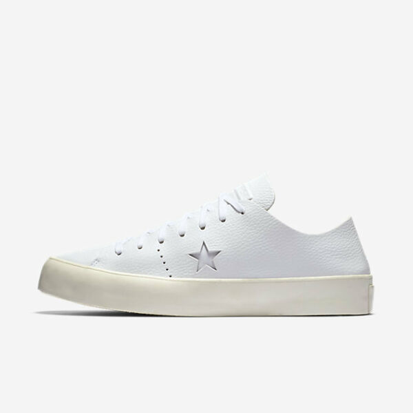 CONVERSE ONE STAR PRIME OX WHITE LEATHER UNISEX 154839C