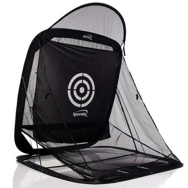 Spornia SPG-7 Golf Practice Net- Automatic Ball Return System (With Roof)